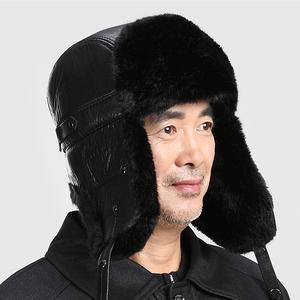 老人帽子男冬天雷锋...