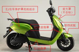 五羊本田纯正零配件 WH1200DT-2新能源摩托车净原V2外观烤漆件 罩