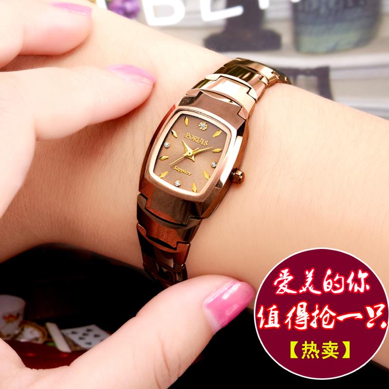 正品鎢鋼女士手表 伯瑞仕手表防水玫瑰金水鑽女表手表女士腕表