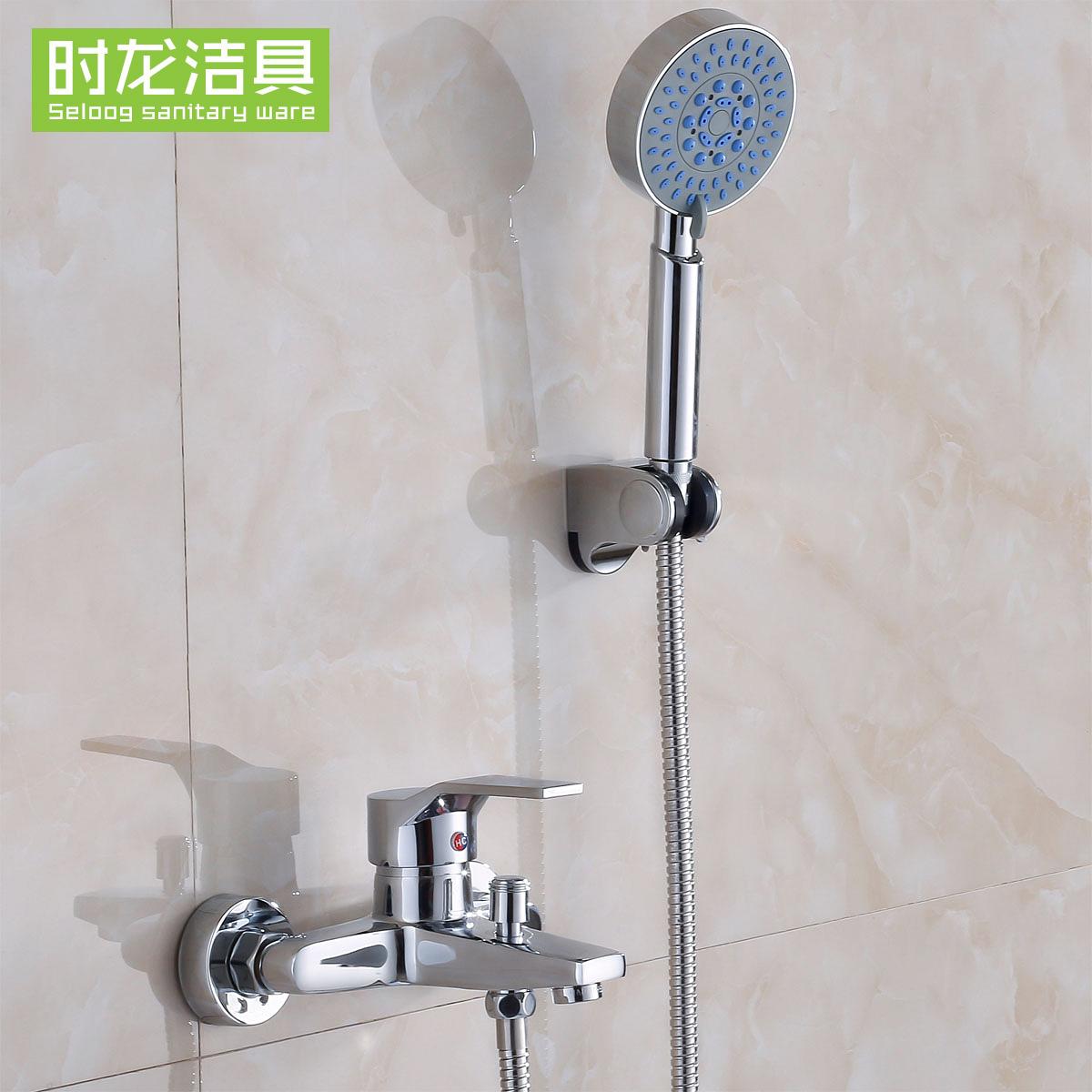 全铜混水阀冷热水龙头浴室淋浴缸暗装入墙混合卫浴卫生间花洒套装