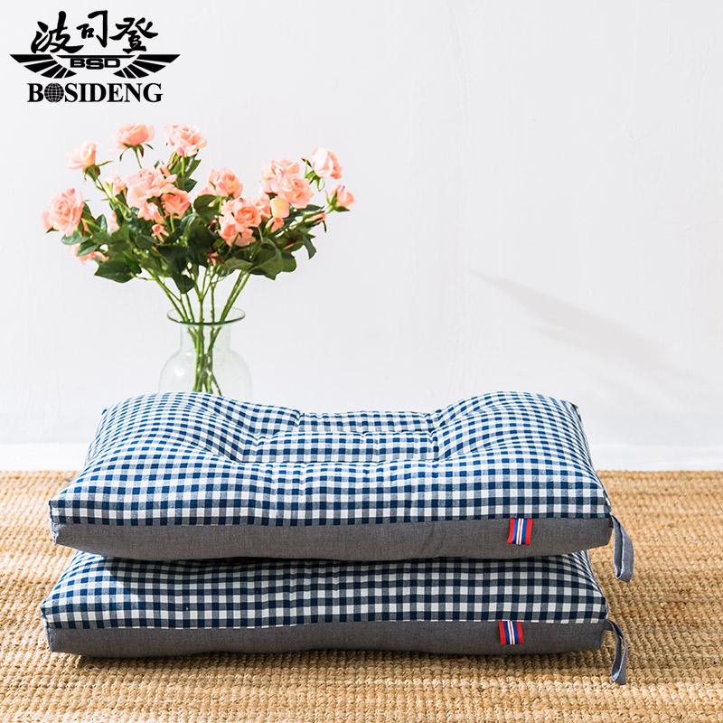 波司登床上用品良品風日式簡約可機洗水洗棉全棉護頸椎枕芯單個裝