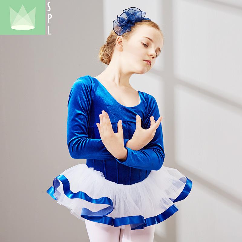 尚品琳春秋舞蹈服装儿童长袖演出服少儿练功考级服幼儿芭蕾舞裙女