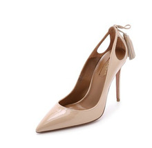 The spring and autumn period and the new Europe and the United States with sexy high-heeled fine suede 2015 women's shoes lighter pointed fringe single women