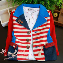 Children's clothes 2015 boy children cotton baby baby suit the new coat suits in the spring and autumn cardigan coat