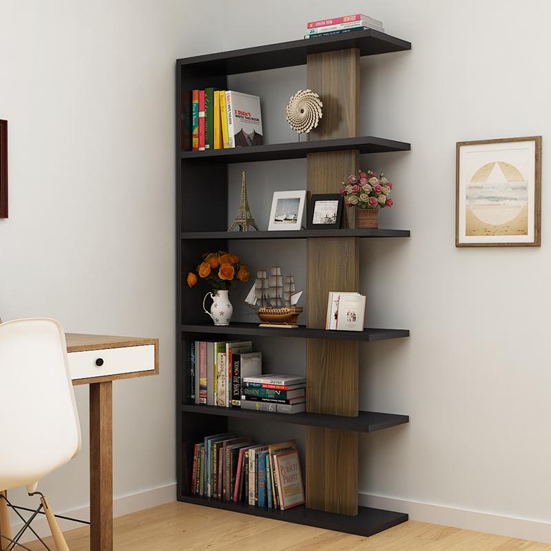 书架简易落地储物格架简约现代架子玄关客厅隔断多层博古架置物架