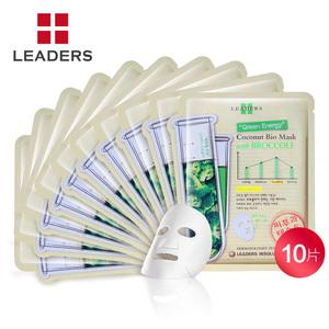 LEADERS/丽得姿花椰菜生物纤维面膜贴10片控油平衡水油 韩国进口