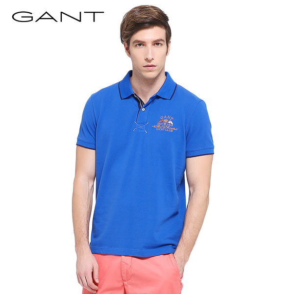 GANT / Gantt Summer new men's cotton POLO shirt lapel short-sleeved T-shirt color 222 173