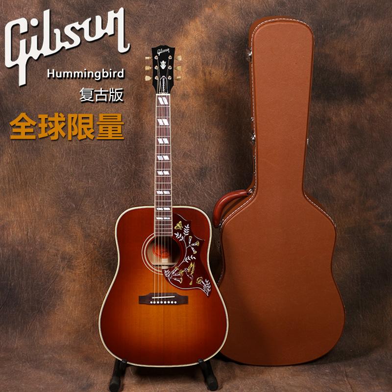 吉普森Gibson Hummingbird Vintage 2018蜂鸟复古全单民谣木吉他
