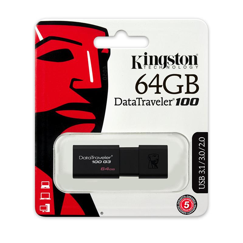 金士顿U盘64gu盘 高速USB3.0 DT100G3 64G U盘64g优盘高速U盘包邮