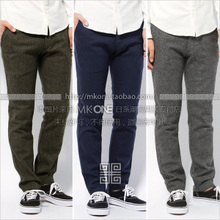 Japanese JS British wind joker for fabrics Flannel wool? Cultivate one's morality small straight trousers