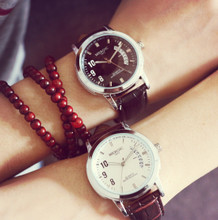 Han Guoyuan lodge big dial retro personality contracted and fashionable belts tide male or female student couples watch