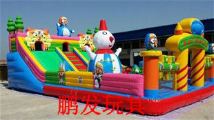 Large new children s inflatable castle inflatable trampoline inflatable trampoline cheer Disneyland