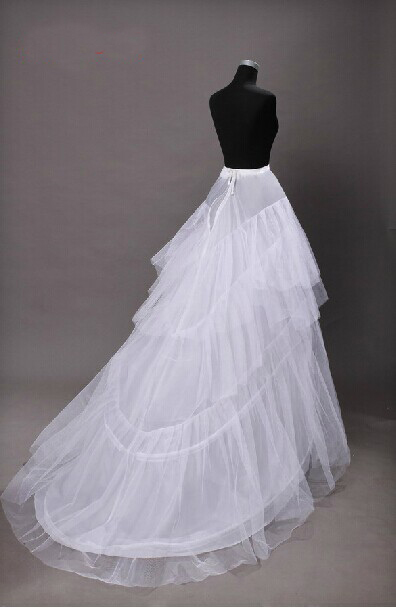 Bride's tail skirt supporting wedding dress accessories double-decked yarn skirt supporting