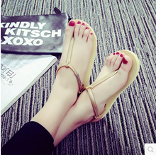 Low in the summer of 2015 the new flat with fish mouth words cool summer slippers female fashion soft bottom sandals slippers at home