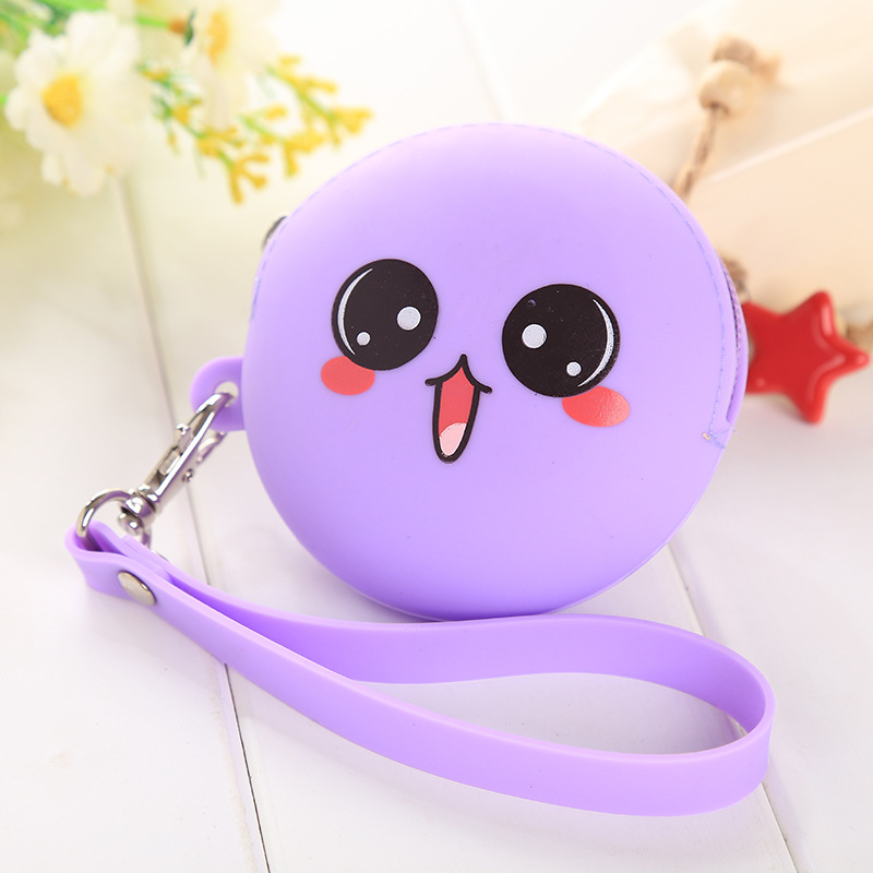 Cartoon Mini silica gel zero wallet female Korean Mini creative coin bag zipper candy headset bag handbag