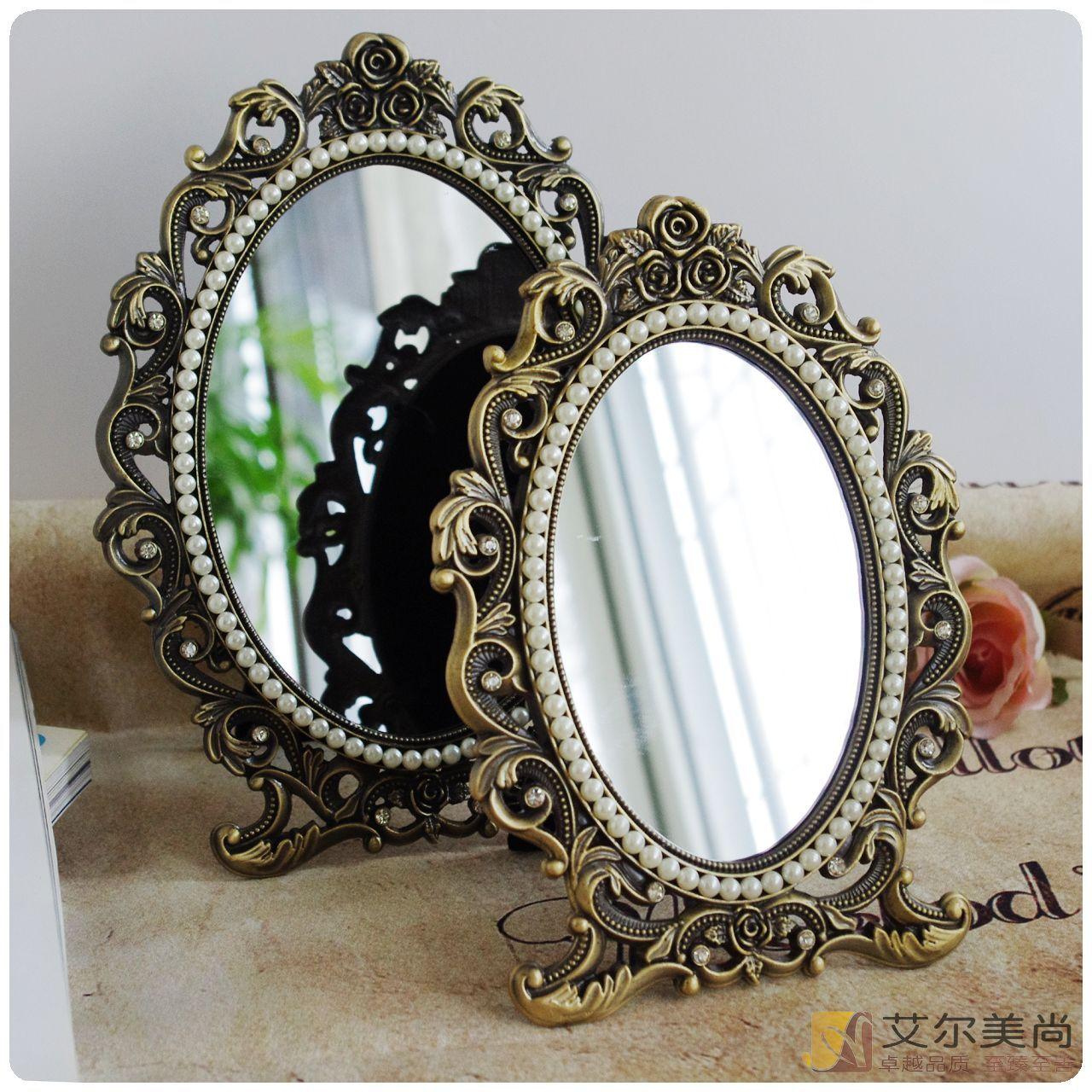 Континентальный классическая ретро меди палитра зеркало рабочий стол рабочий стол зеркало косметическое зеркало anna sui принцесса соус зеркало почта