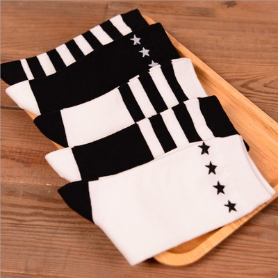 75d6d9cc6 6 double package mail harajuku cotton stockings Japanese stripe college  girl socks in the autumn wind tube High female cotton socks