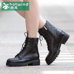 Hot air coarse tide girls with Martin boots with side zipper short tube boots woman boots UK wind H81W5421