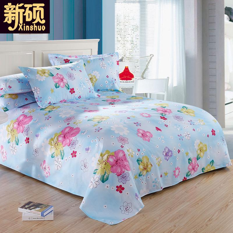 100^%純棉床單單件雙人單人全棉 被單學生宿舍家紡1.5米床1.8m