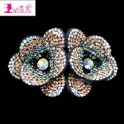 Korean hair accessories flower hairpin rhinestone clip Korea hair accessories spring clamp horizontal clamp card-issuing of cauda equina clip