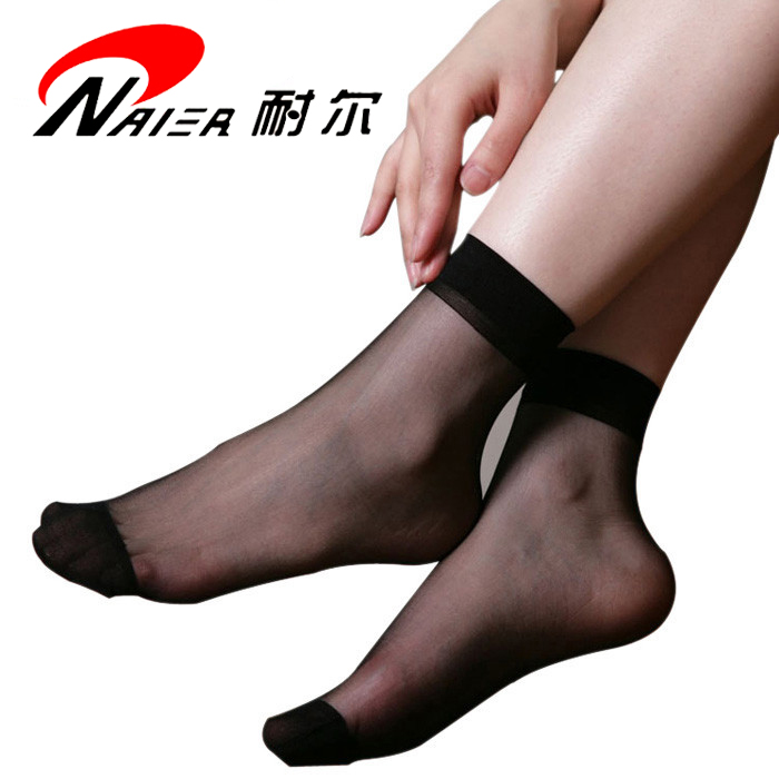 Parcel mail Nell 0417 womens thin velvet super elastic anti hook two bone short stockings spring and summer womens stockings 6 pairs