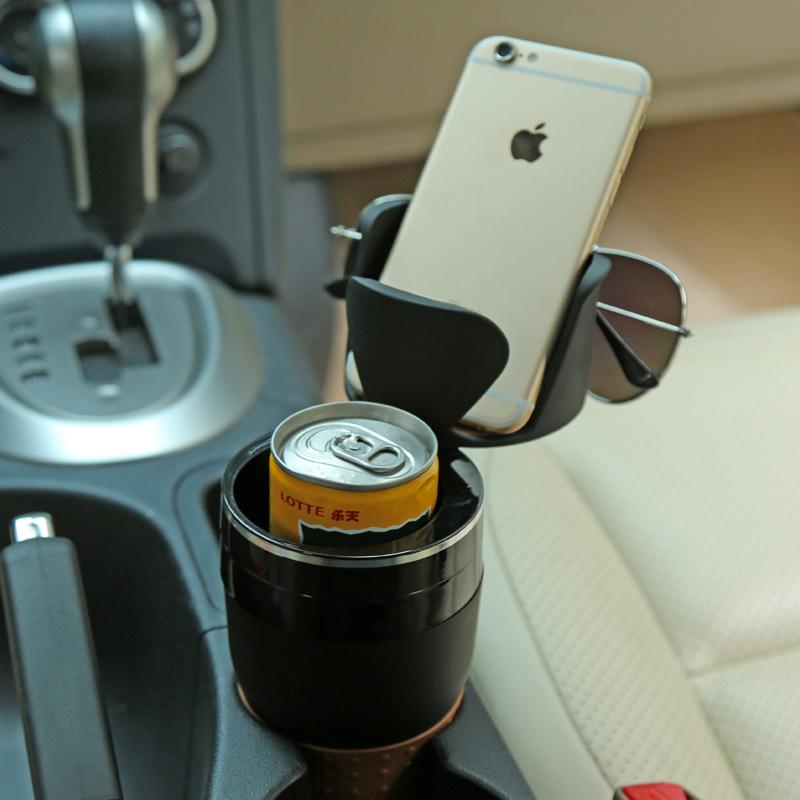 汽车车载水杯架水壶架固定座车用茶杯托杯架多功能烟灰缸支架杯座