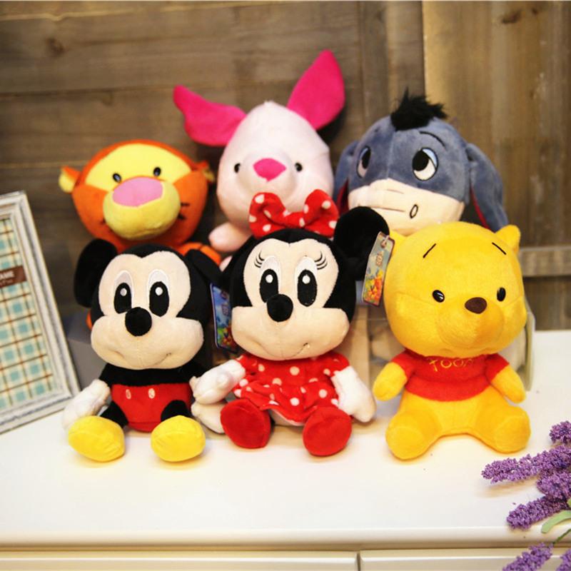 迪士尼维尼熊跳跳虎米奇米妮毛绒玩具玩偶布娃娃小公仔生日礼物女