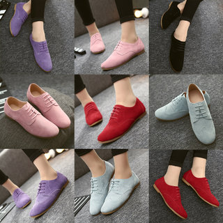 College wind leather flat shoes UK wind strap casual shoes retro shoes leather new students in spring