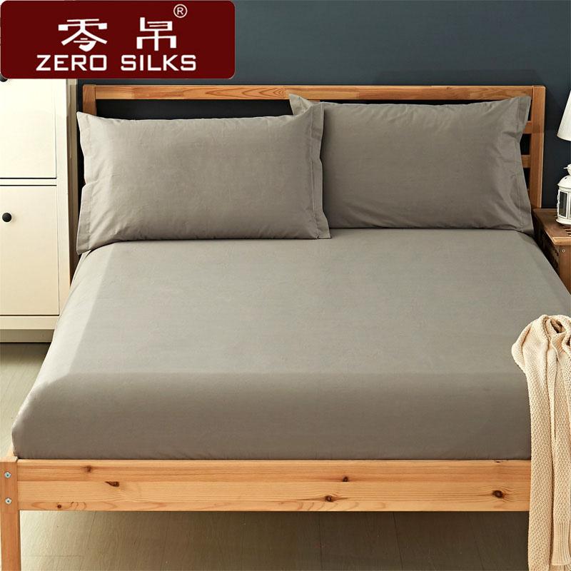�棉床笠�渭�保�o套全棉床�|套�色加高加厚床套子1.8m席�羲即舱�