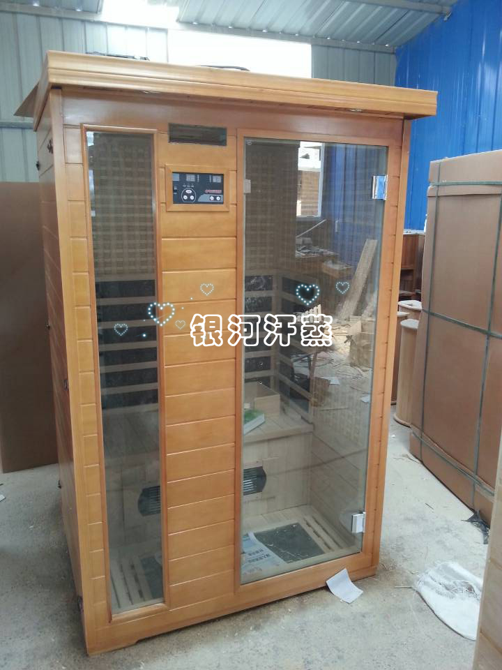 Double person Tomalin tourmaline carbon fiber sweat room / spectrum therapy energy room / far infrared light wave sauna room