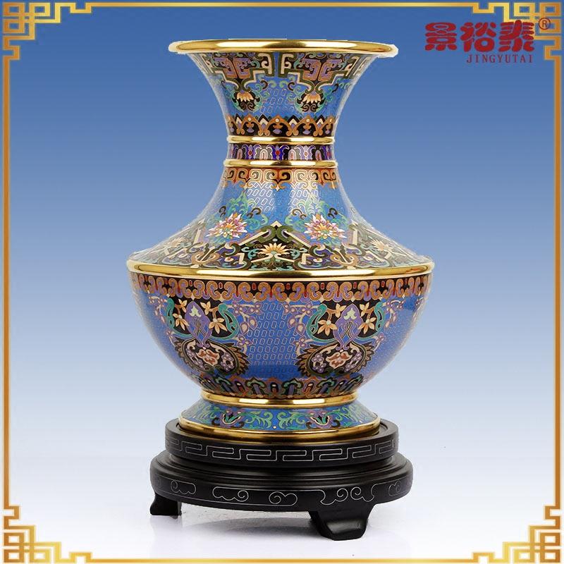 景泰蓝花瓶盖碗尊北京特色工艺品礼品摆件客厅家居饰品张向东作品