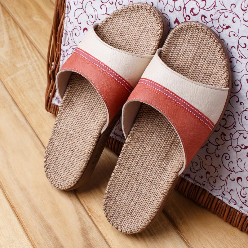 硕牌8301PU麻凉拖鞋女士春夏款室内家居简约麻拖鞋防滑可水洗