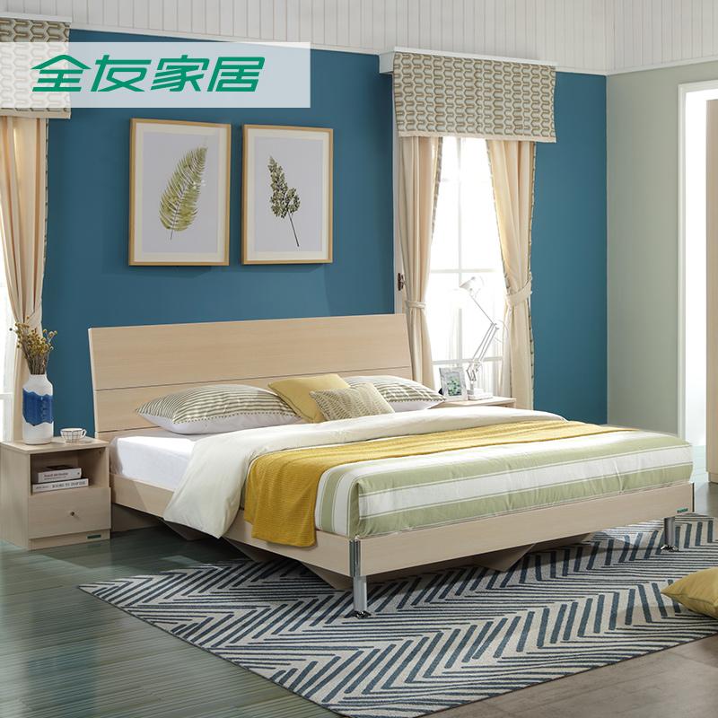 Все друг домой спальня четыре части мебель кровать совет кровати двуспальная кровать 1.8 большой кровать содержать гардероб 106302
