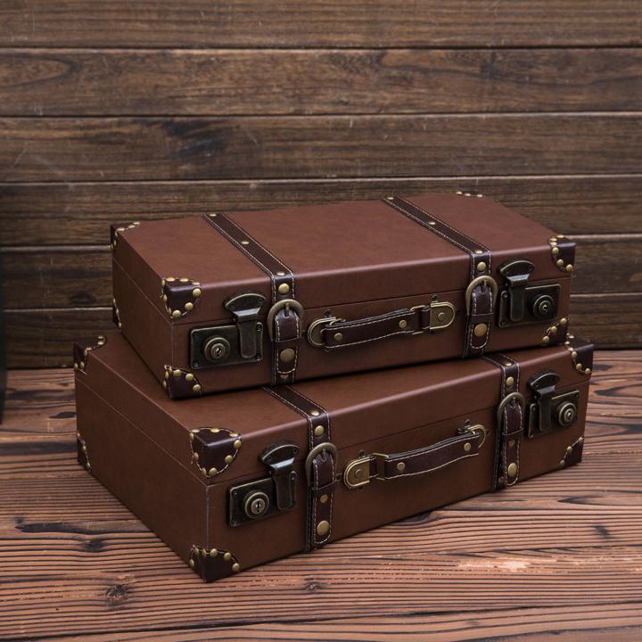 ~歐璟美~歐式複古手提箱 老式皮箱拍攝道具櫥窗裝飾陳列儲物箱