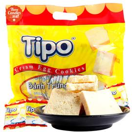 越南特产进口零食 丰灵tipo面包干300g 白巧克力奶油鸡蛋饼干小吃