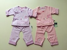 Eng beibei in the spring and autumn outfit new female baby thin cotton suit infant clothing children's clothing coat out