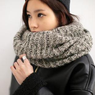 新款韩版毛线套头冬天韩国学生脖套