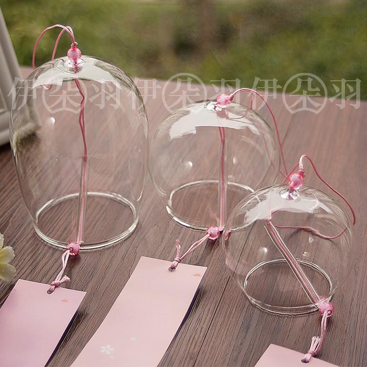 日式和风DIY透明玻璃手工风铃挂饰 创意礼物阳台花园婚庆聚会布置