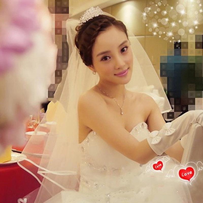 2017 новый такой же, как у звезды невеста вуаль корейский один простой краткое модель фотографировать выйти замуж свадьба вуаль белый