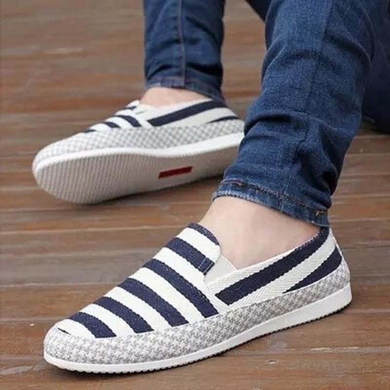 夏季帆布韩版豆豆鞋男士老北京布鞋