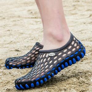 2017夏季新款韩版潮流男鞋子防水拖鞋防滑情侣洞洞鞋青年沙滩凉鞋