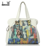 Danxilu shoulder bag Jurchen leather women bag 2015 new wave Korean version of the European and American retro woman slung Duffle Bag