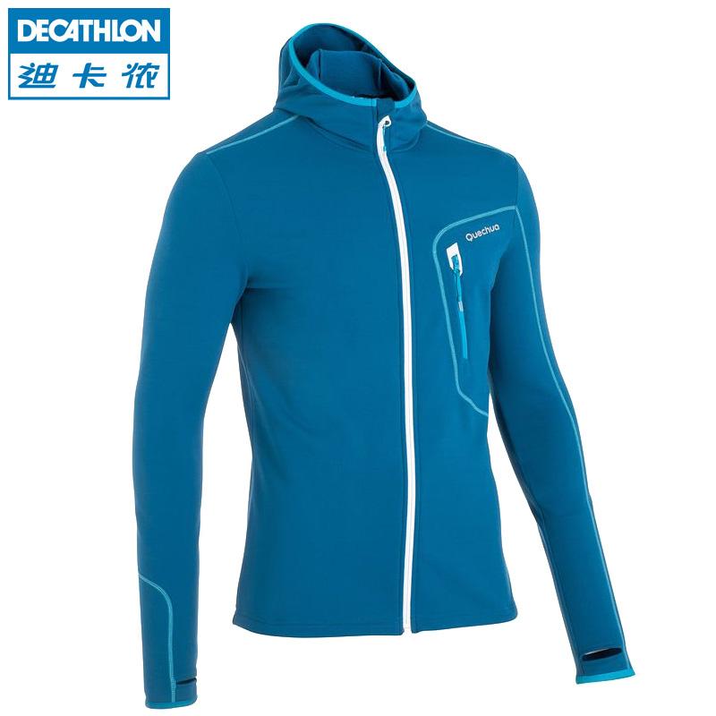 迪卡儂 戶外抓絨衣 男士保暖外套開衫 修身衝鋒衣內膽 QUECHUA 11