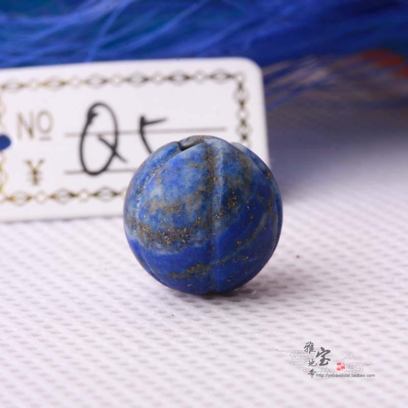 Высокий древний западная азия старый ляпис дыня жемчужина бисер тыква жемчужина ожерелье исследование жемчужина больше рука строка Q5