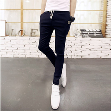 V37 men's casual pants male han edition foot trousers in summer Fashion small straight leg trousers of cultivate one's morality men's trousers and thin section