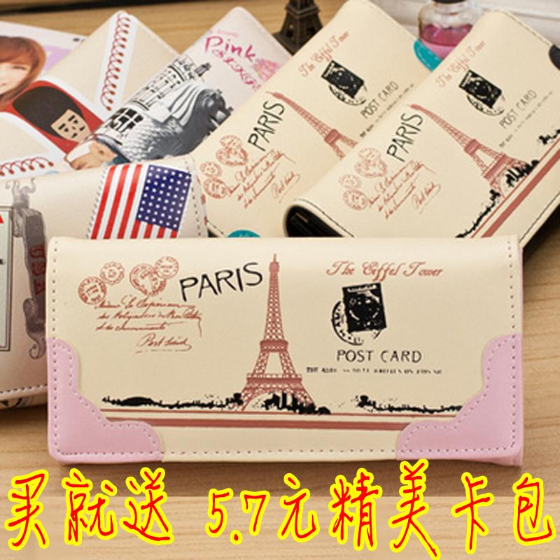 «Ночь дал осечку вверх» MS Mail 2014 новая мода милые женщины бумажник большой zip вокруг бумажник кошельки студента