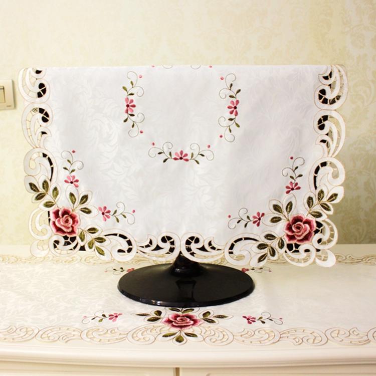 Высококачественный компьютер телевидение обложка тканевая 32 42 дюймовый вышивка пирсинг полотенце жидкий кристалл пылезащитный чехол телевизионный шкаф настольный флаг ткань