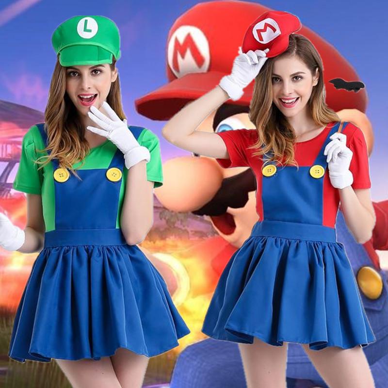 日本のアニメスーパーメアリーのコスプレ衣装のマリオーストリアのコスプレ衣装のゲームの制服の分コード