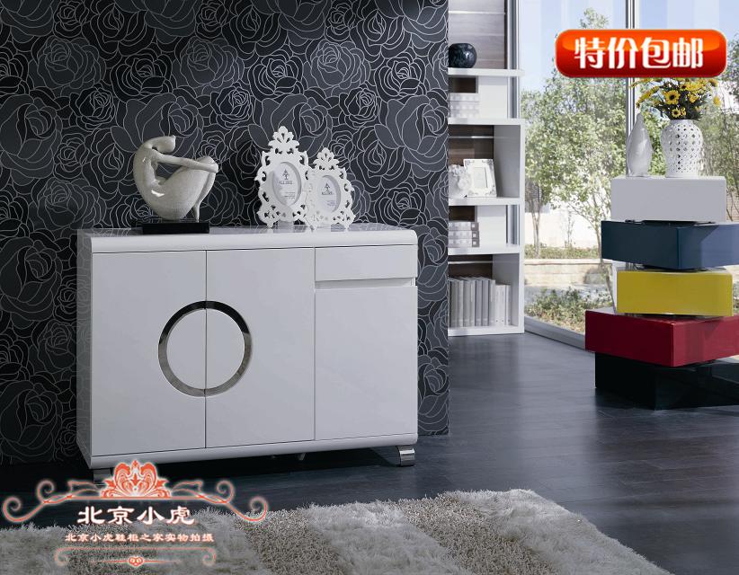 小虎第一 鞋柜专家定做多功能大容量白色烤漆玄关鞋柜ZR-Y003包邮