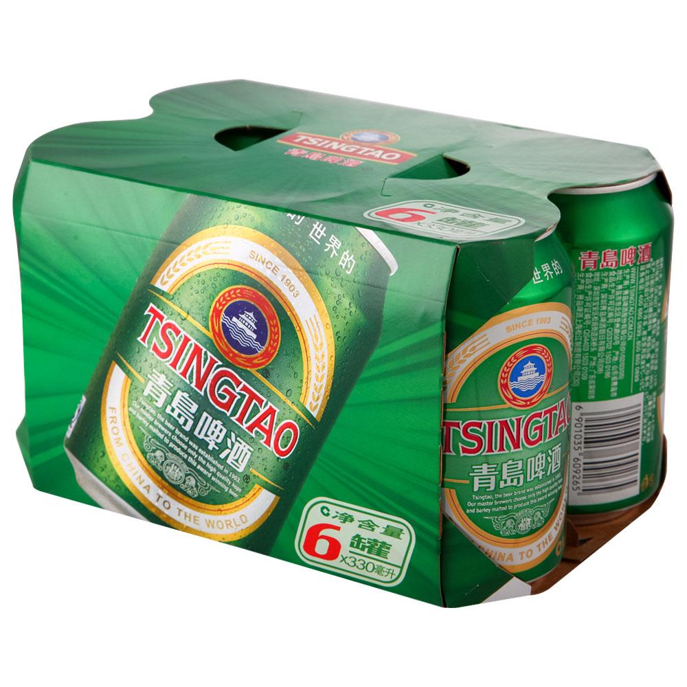青島啤酒 易拉罐330ml~6 組 青島罐裝啤酒